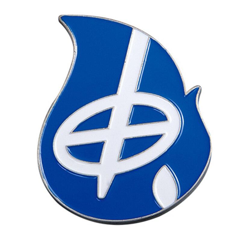 Factory wholesale blue water drop shape die casting coin