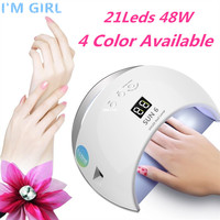I'M GIRL SUN UV SUN6 48W Nail Dryer Auto Sensor Portable UV Lamp For Drying Low Heat Model Double Power Fast Manicure Nail Lamp