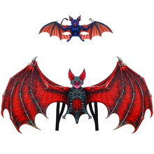Festival Kids Costume Set Vampire Bat Wings Dress Up With Glasses Carnival Halloween Party Clothing Decoration
