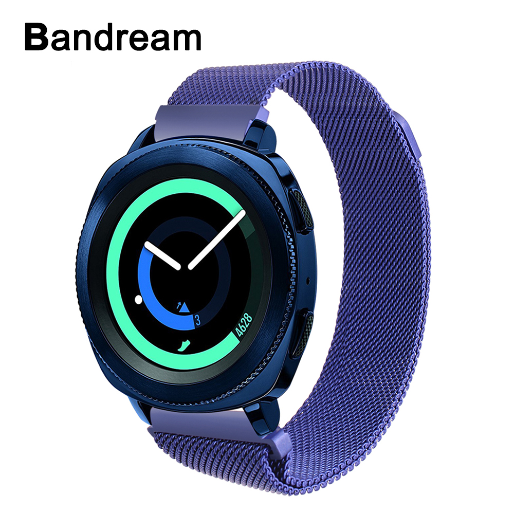 Milanese Stainless Steel Watchband for Samsung Gear Sport SM-600 Ticwatch 2 Withings Steel HR 40mm Magnet Watch Band Wrist StrapMilanese Stainless Steel Watchband for Samsung Gear Sport SM-600 Ticwatch 2 Withings Steel HR 40mm Magnet Watch Band Wrist Strap
