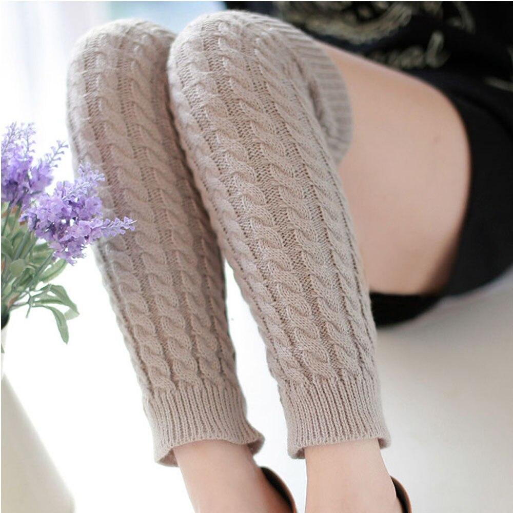 Страуса горячая Распродажа новая мода высокое качество повседневные женские теплые зимние классические вязаные гетры новые - Цвет: Серый