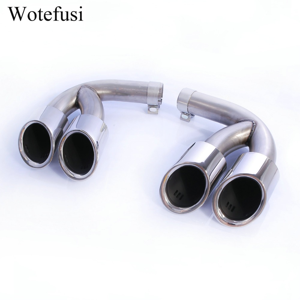 Wotefusi Exhaust Pipes Muffler Tail Tip For 2018 2019 Porsche Cayenne 3.0T Electroplated [QPA524]-in Mufflers from Automobiles & Motorcycles    1
