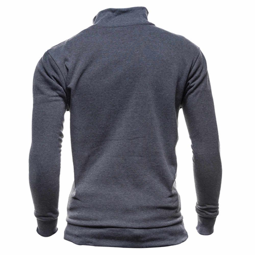 Для мужчин 'осень-зима одежда; детская одежда с длинными рукавами на молнии пуловер, блузка, Топ Для мужчин осень-зима с длинным рукавом Толстовка Плюс Размеры