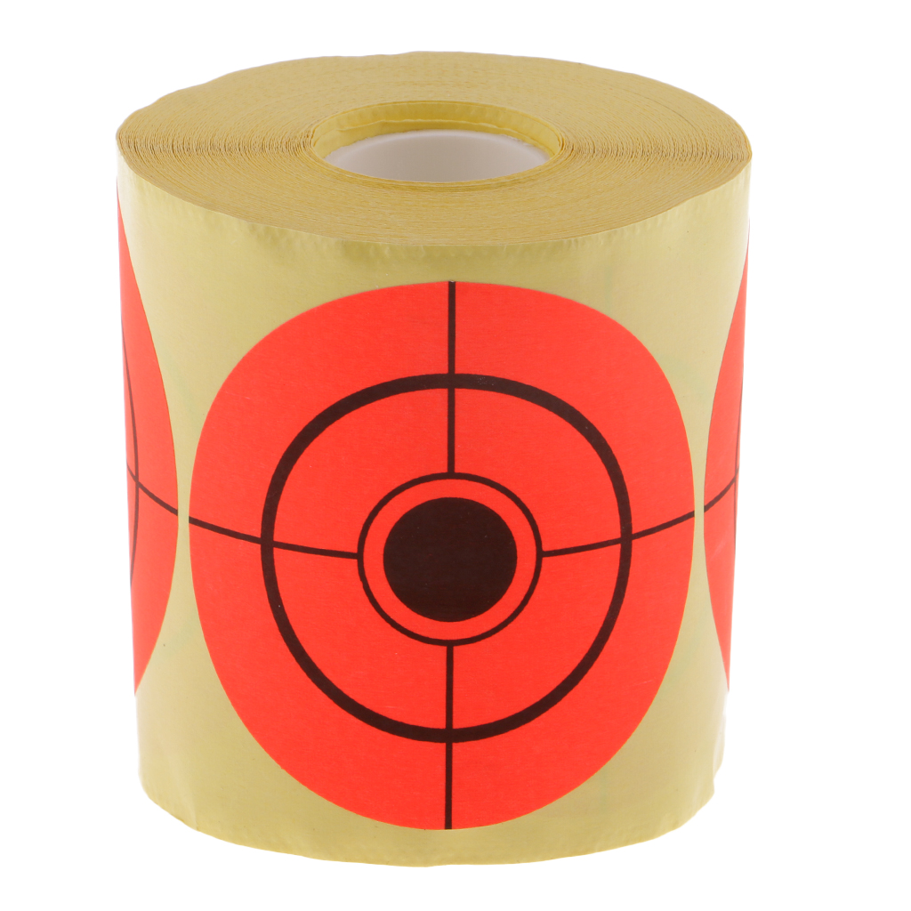 250 Pieces Shooting Target Self Adhesive 3 Inch Paper Target Sticker Fluorescent Orange For Training