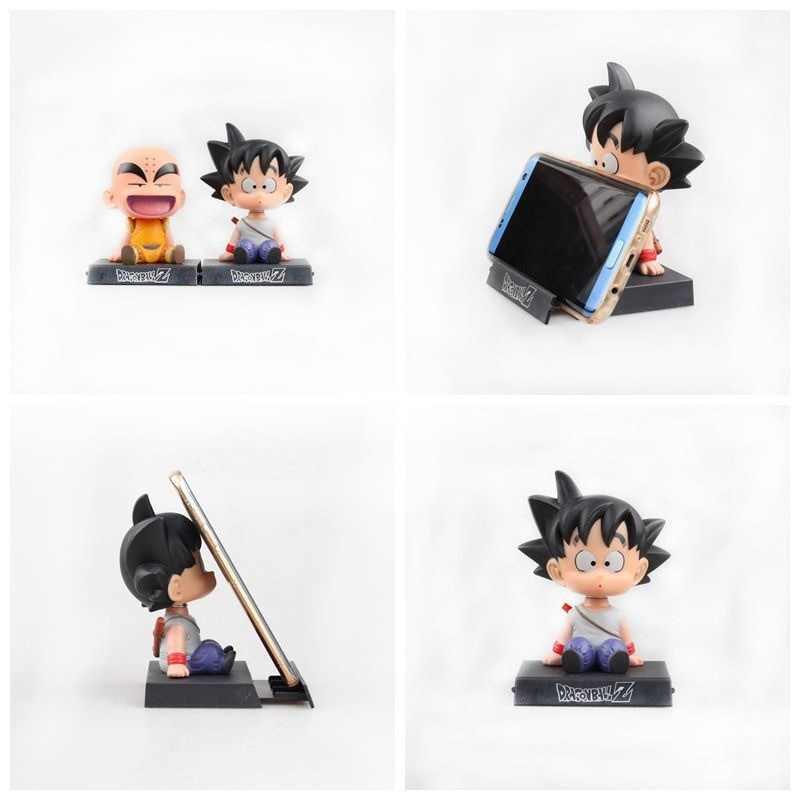 12 см качающаяся голова Супер Марио Наруто Джек Dragon Ball Z Son Goku Krillin встряхнуть головой держатель телефона кронштейн ПВХ фигурку