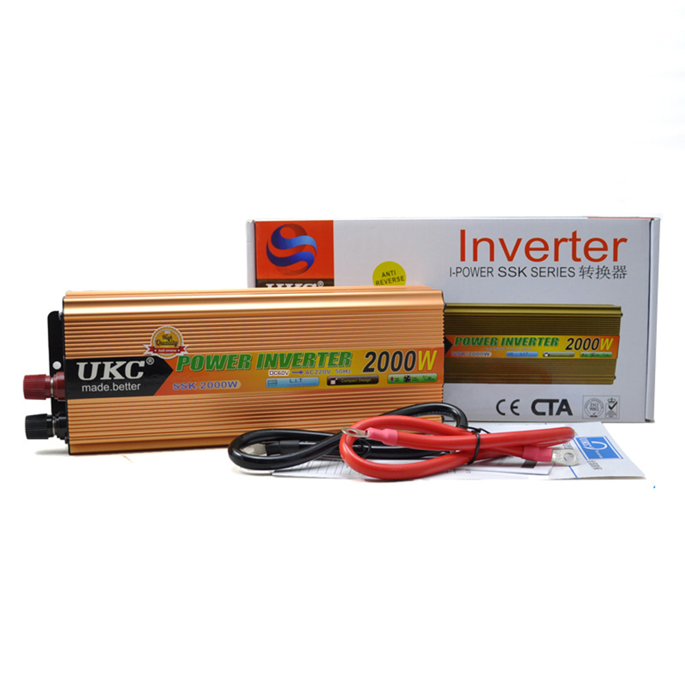 цена на 2000W Inverter Modified Sine Wave Power Inverter Converter Charger Car DC 12V to AC 220v Converter inverters