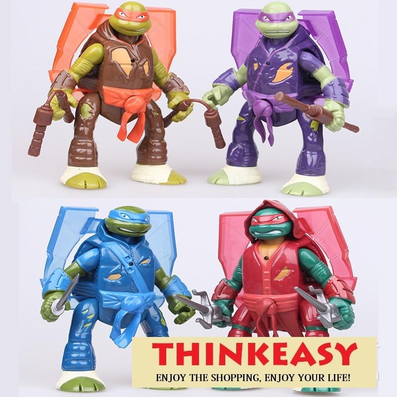 Flash toy Ninjaled turtles The cute <font><b>my</b></font> 4pcs <font><b>little</b></font> Cartoon patroled <font><b>Action</b></font> Figure <font><b>Pvc</b></font> <font><b>Mini</b></font> Models 14cm Dolls <font><b>poni</b></font>