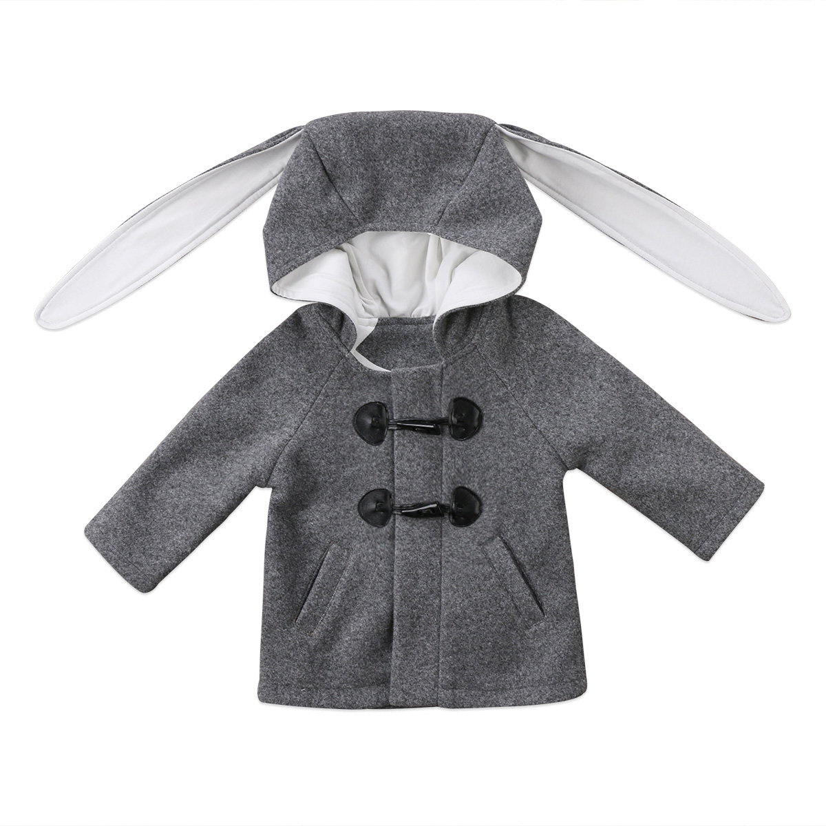 Winter Baby Coat NEW Kids Baby Girls Winter Warm Button Long Sleeve Hooded Coat Outerwear Jacket