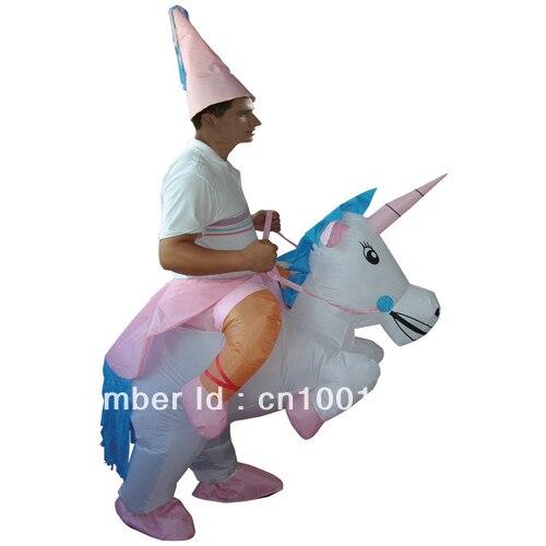 Costumes de carnaval licorne gonflable Costumes adultes hommes / femmes parti Costumes Pegasus Halloween Costumes Unicorn