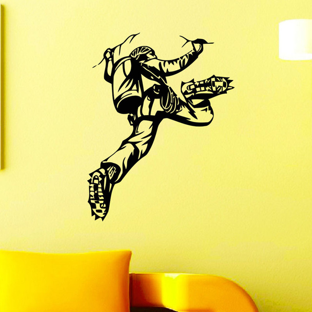 Extreme Sports Wall Decals Rock Climber Climbing Wall Stickers DIY ...