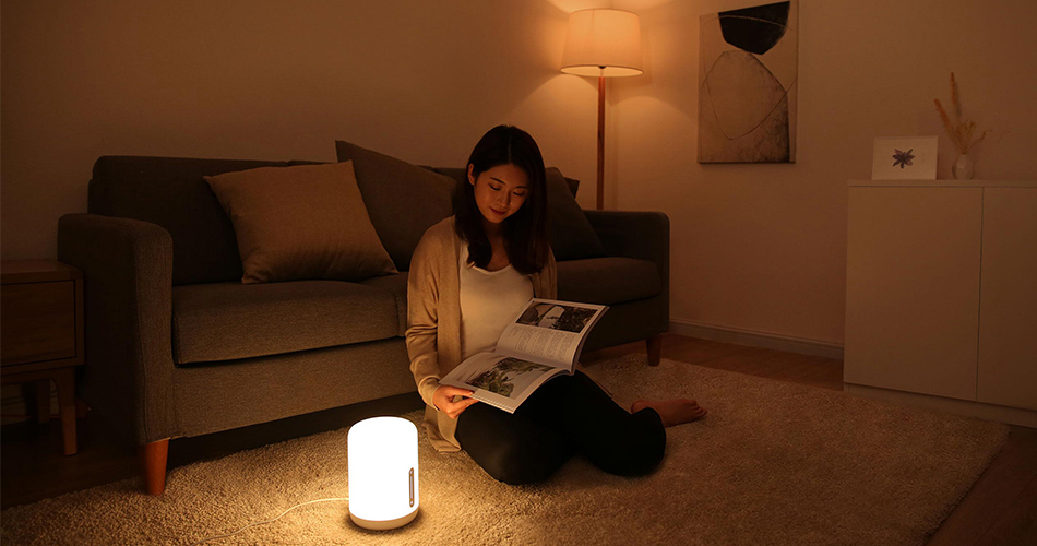 New Version Xiaomi Mijia Bedside Lamp 2 Smart Light voice control touch switch smart APP color adjustment For Apple Homekit Siri (10)