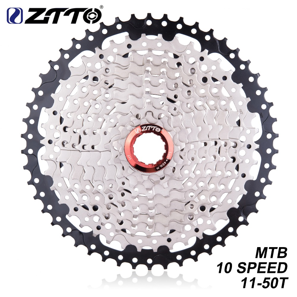 Cycling Ztto Mtb Bike 10 Speed 11-50t Ultralight Cassette Freewheel Bicycle Sprockets