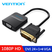 Vention DVI D untuk Adaptor VGA DVI 24 + 1 VGA Kabel Digital Analog Konverter Audio 1080 P untuk xbox PS3 Laptop TV Box(China)