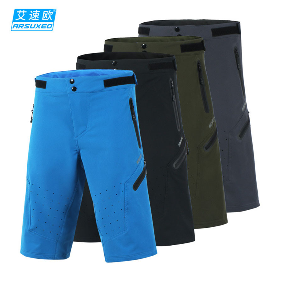 ARSUXEO Men's Summer Cycling Shorts Off-road Downhill DH BMX MTB Mountain Bike Bicycle Shorts Outdoor Sports Short Pants arsuxeo cycling short pants