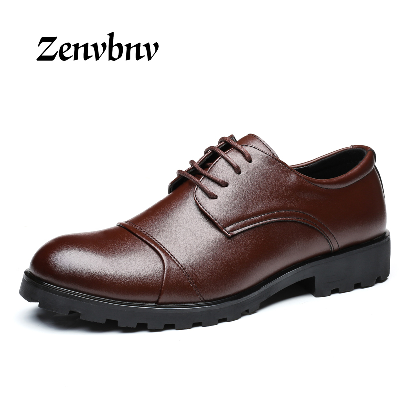 ZENVBNV  Men Leather Shoes Casual New 2017 Genuine Leather Shoes Men Oxford Fashion Lace Up Dress Shoes Business work shoes 2017 new spring imported leather men s shoes white eather shoes breathable sneaker fashion men casual shoes
