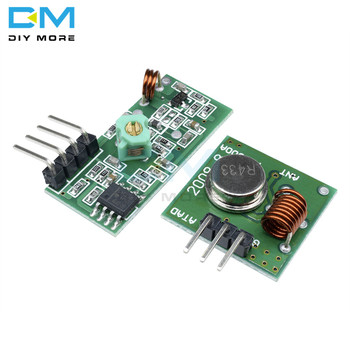 315 433 Mhz 315Mhz 433Mhz RF Transmitter And Receiver Link Kit for Arduino Wireless Remote Control Module Voltage Module Board image