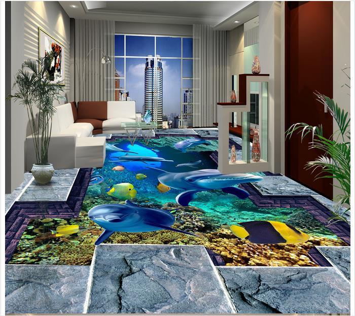 3d Wallpaper Custom 3d Flooring Painting Wallpaper Murals