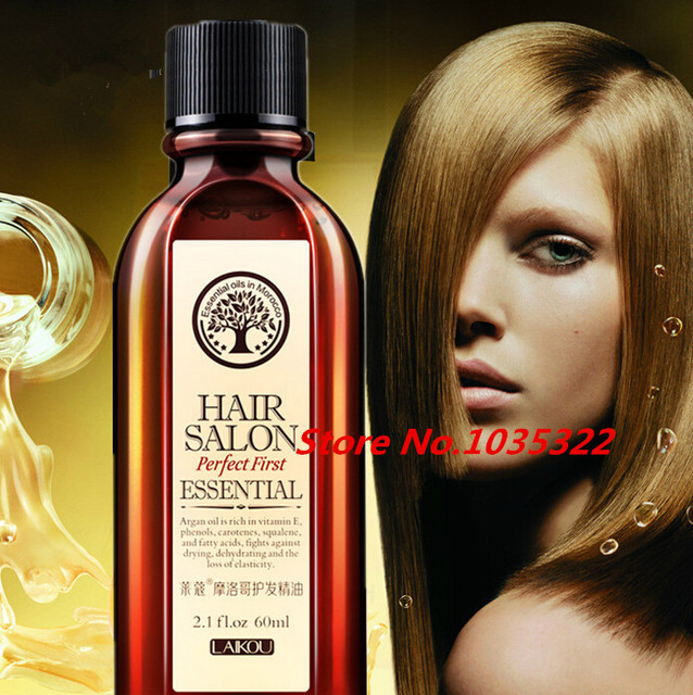 Марокканские Чистый Аргановое Масло Для Ухода За Волосами 60 мл Масло Для Волос Лечение Для Сухих Волос Типов Волос и Кожи Головы