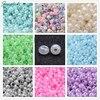 Glass Seed Beads Ceylon Round Round Aqua 2mm Hole 1mm About 30000pcs Pound