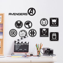 Il Advengers Wall Sticker HULK CAPITAN AMERICA IRON MAN THOR3 Tipi Car Parete Del Vinile Della Decalcomania Per Bambini Camera Da Letto Decorazione Domestica # T455(China)