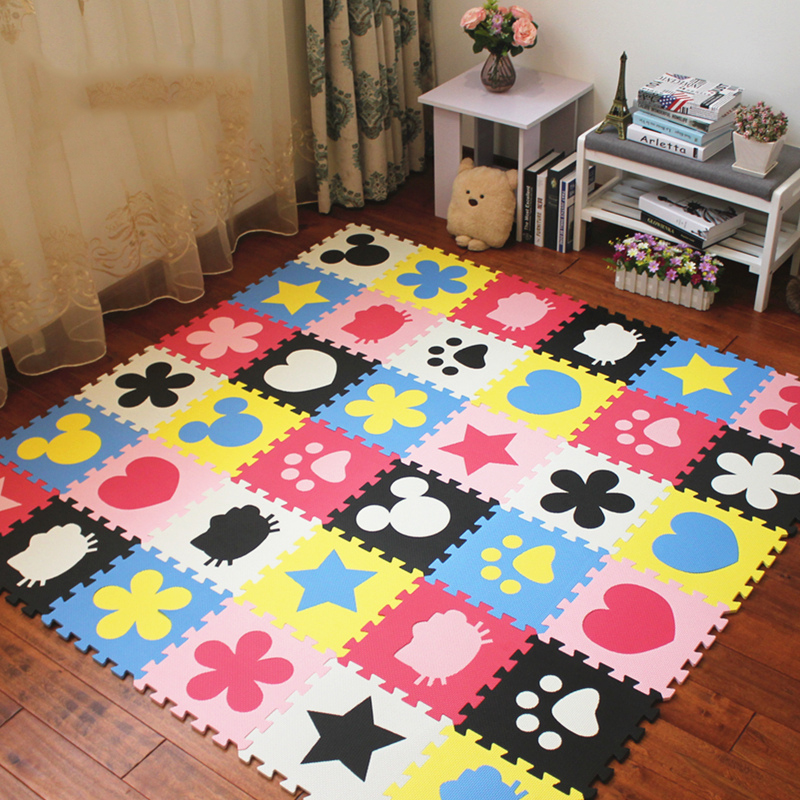 JCC Various Patterns EVA Foam Puzzle Play Mat /kids Rugs Carpet Interlocking Exercise Floor For Children Tiles 30*30*1cm