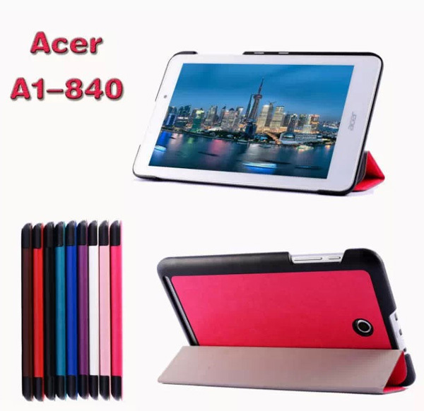 New Ultra Slim Custer Patterns Magnetic Folio Stand Leather Case Smart Cover For Acer Iconia Tab 8 A1-840 A1 840 A1-840-16PT 8