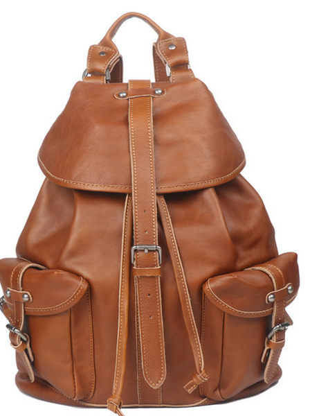 Vintage Men <font><b>Genuine</b></font> <font><b>Leather</b></font> <font><b>Backpacks</b></font> <font><b>Unisex</b></font> Cowhide Multi-Function School Bags Preppy Style Male Casual Laptop Rivet Totes D610 image