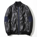 Autumn New Fashion Slim Mens Pu Leather Jacket Stylish Rivet Decoration Black Leather Outerwear