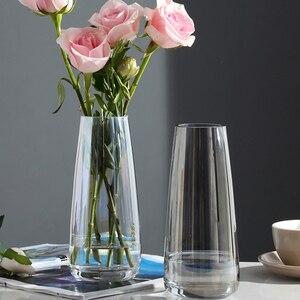 Image 3 - אירופה זכוכית פרח אגרטל הבית מודרני קישוט שולחן אגרטל לחתונה אביזרי קישוט