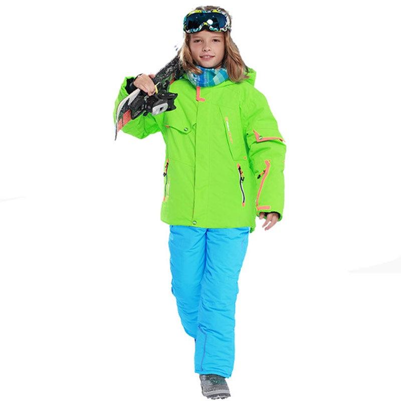 kids clothes winter ski suit windproof jackets+pant kids winter snow girls clothes boys clothes outdoor