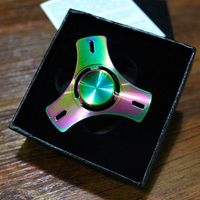 Rainbow Color Fidget Spinner Toys Hand Spinner Torqbar Brass Material Professional EDC Gyro For Autism ADHD