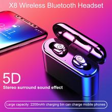 Mini Wireless Bluetooth Earphone In Ear Sport With Mic Handsfree Headset Earbuds TWS With Charging Box For All Phone