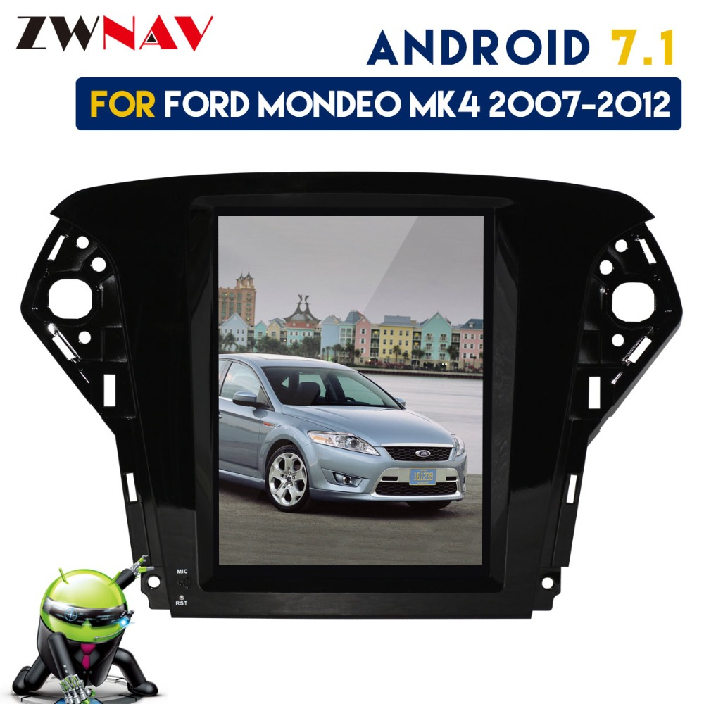 все цены на Android 7.1 Tesla style IPS Screen No DVD Player GPS Navigation Radio Screen For Ford Mondeo MK4 2007 2008 2009 2010 2011 2012 онлайн