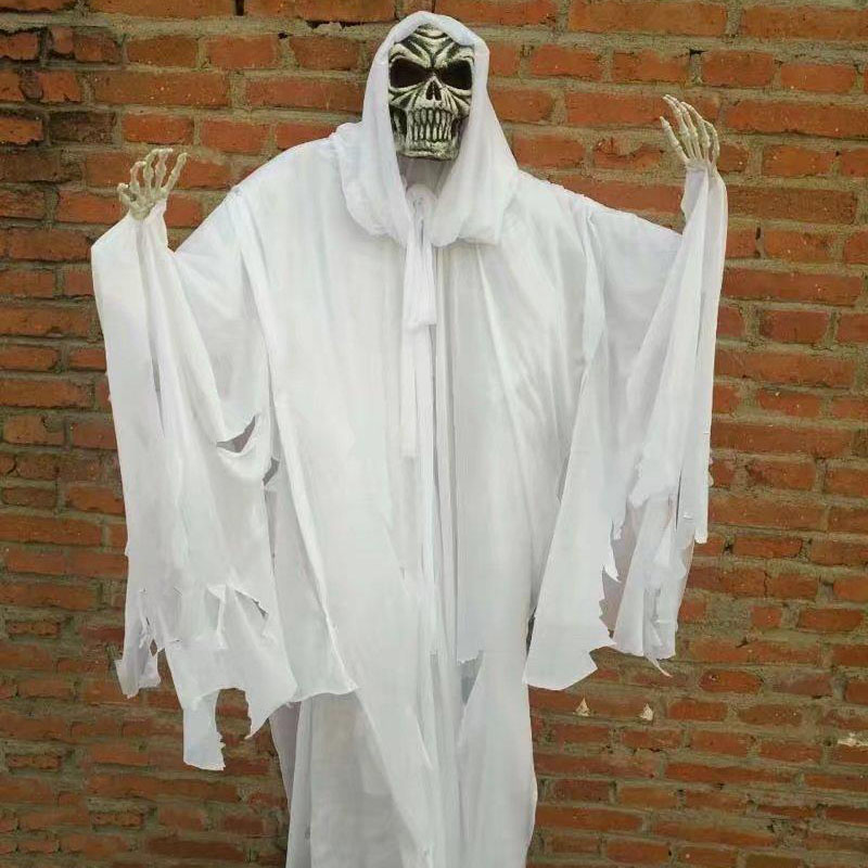 HTB1XtB7KuuSBuNjSsziq6zq8pXaL - 165cm Halloween Hanging Ghost Haunted House Escape Horror Halloween Decorations Terror Scary Props Theme Party Drop Ornament 1pc