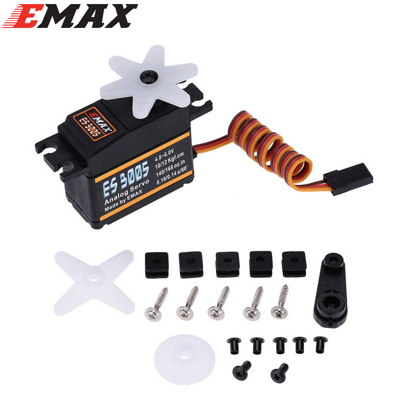 4set/lot EMAX ES3005 Analog Metal Waterproof Servo With Gears 43g Servo 13KG Torque For RC Car Airplane Diy Racing Drone