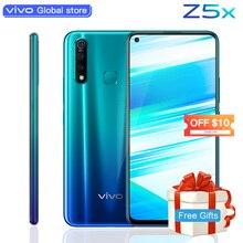 Оригинальный мобильный телефон vivo Z5x 6,53 «экран 8G 128G Snapdragon710 16MP камера Android 9 5000 mAh большой аккумулятор celular смартфон