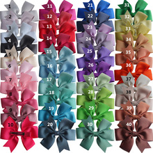 цена на 40pcs Pinwheel Hair Bow 3.5'' Hairbow Clips Baby Girls Hair Accessories Headwear Boutique Grosgrain Dovetail Hair Bows Hairpins