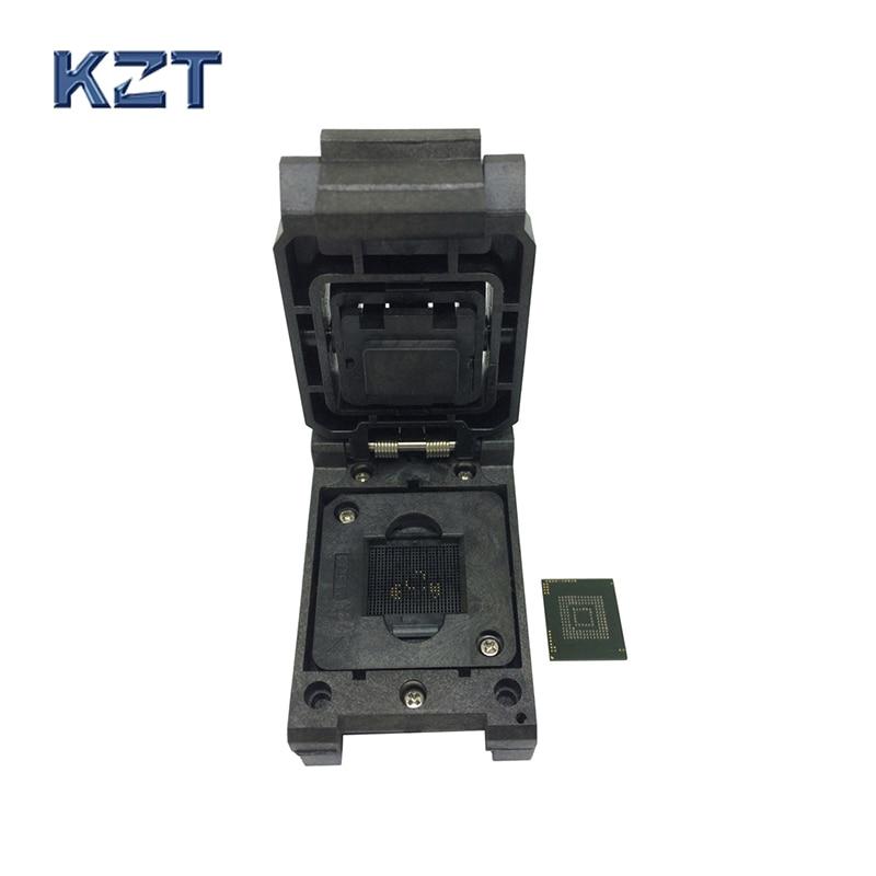 eMMC153/169 BGA153 BGA169 Burn in Socket Pin Pitch 0.5mm IC Body Size 12x16mm Clamshell Test Socket Adapter Data Recovery bga24 to dip8 ic adapter socket for 8x6mm body width bga chips
