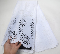 White African Lace Fabric 2019 High Quality Lace Nigerian Lace Fabric With Cutting the hole Embroidery Tulle French Lace