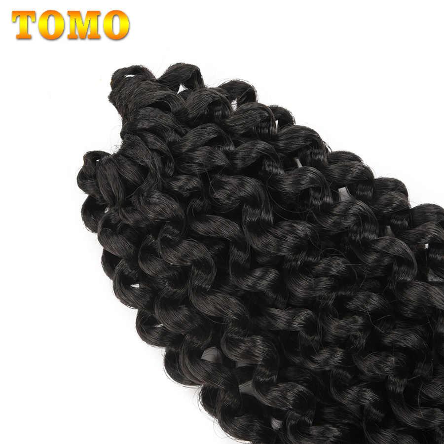 """TOMO Ombre пушистая кудрявая завивка, плетение волос оптом 18 """"синтетический длинный страсть Весна Твист волосы вязанные косы 22 подставки"""