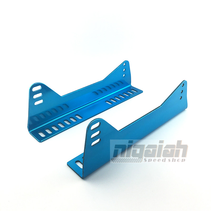 Universal Auto Replace Parts Aluminum Lightweight Strength Colorful Blue Seat Bottom Mount L Board Seat Side Mounting