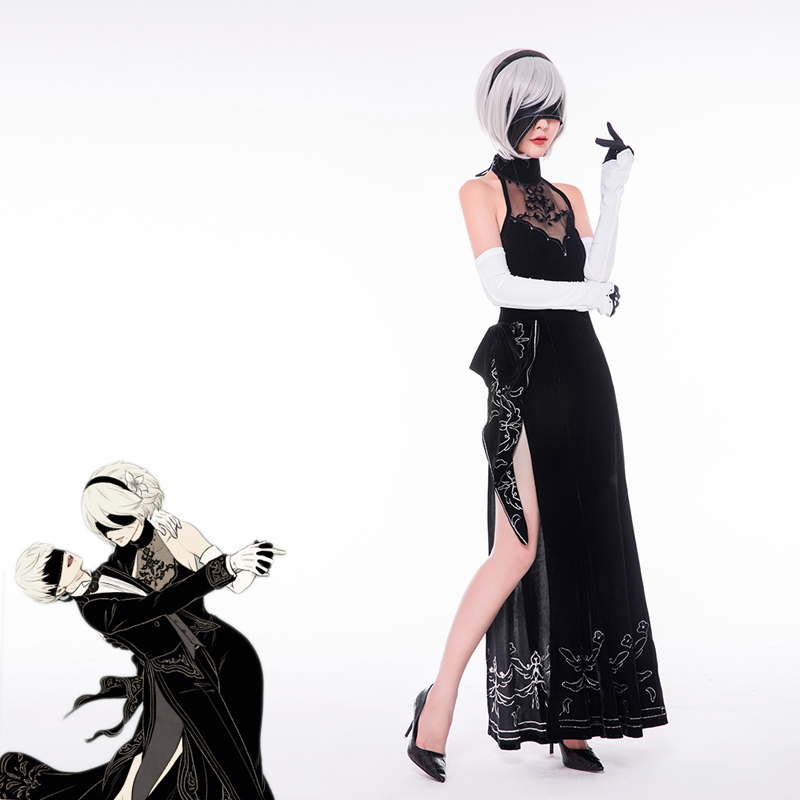 2 Type B Heroine Dress Cosplay Costume NieR:Automata 2B YoRHa No full set