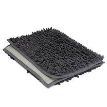 SZS Caliente 1 unids Baño Lavable Nueva Alfombras Shaggy Antideslizante Alfombra de Baño Gruesa 40×60 cm gris Oscuro