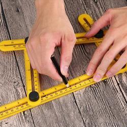 1 шт. практичная четырехсторонняя линейка измерительный инструмент шаблон механизм раздвижной инструмент