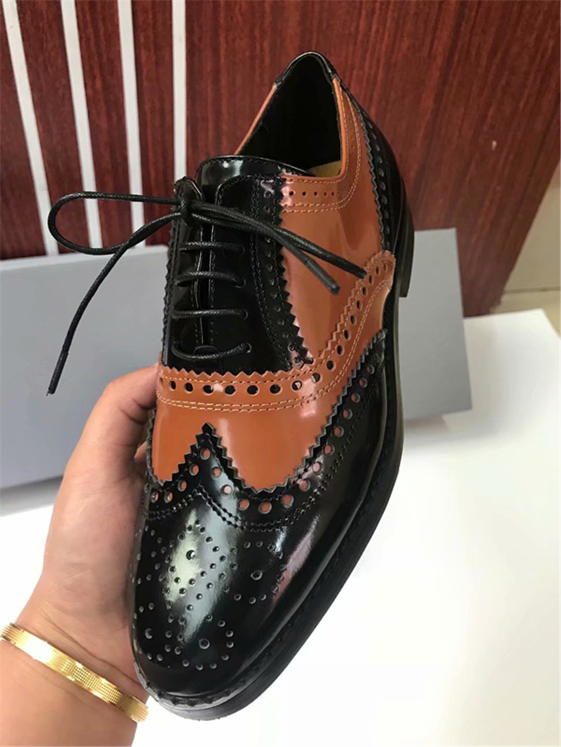 Mixed Color Womens Winged Oxford Lace Up Striped Platform Metallic Fashion Vintage Platform Bullock Flat Female Shoes Woman 40 - 6