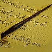 Klassische Handarbeit Palisander Englisch Schrägen Kalligraphie Nib Kupfer Skript Cut Seite Halter Beste Geschenk Antike Brunnen Dip Stift
