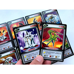 Image 4 - 36 pcs/lot Cartoon Collection Cards Digimon Adventure Digital Agumon War Greymon Action Figures Evolution Trading Cards Kid Toy