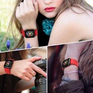 Image 5 - Voor Apple Horloge Band 44Mm 40Mm 42Mm 38Mm, fluor Rubber Apple Horloge Band Voor Apple Horloge Alle Modellen Iwatch Sport Horlogebanden