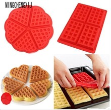 Food Silicone Waffles Bakery Square Cake Mold DIY Kitchen Decoration Tools Triangle Bread Making Template Cream Tips
