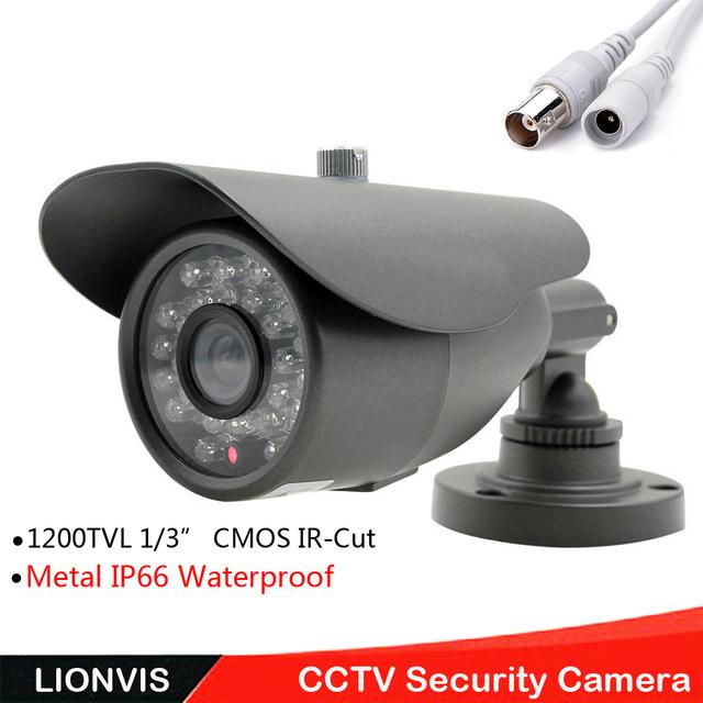 """1/3 """"sony cmos 1200tvl câmera de segurança cctv vigilância nerwork câmera hd cmos ir-cut 36 led infravermelho ao ar livre câmera de cctv"""